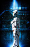 Девушка робота андроида иллюстрация вектора