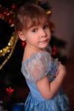 девушка рождества меньший вал Стоковое Изображение