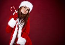 девушка рождества сексуальная Стоковое Изображение RF