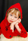 девушка рождества серьезная Стоковое Изображение RF