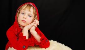 девушка рождества серьезная Стоковое фото RF