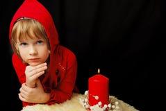 девушка рождества серьезная Стоковое Фото