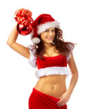 девушка рождества симпатичная Стоковые Изображения