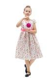 девушка рождества шарика милая меньший вал Стоковая Фотография RF