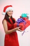 девушка рождества smilling Стоковые Фотографии RF