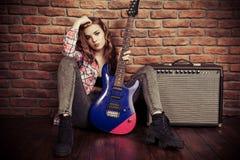 Девушка рок-музыки Стоковые Изображения
