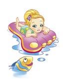 девушка рыб Стоковые Фотографии RF
