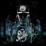Девушка рэпа привлекательная Стоковое Изображение RF