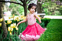 девушка сада цветка Стоковое Изображение RF