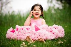 девушка сада цветка Стоковая Фотография