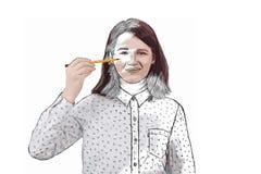Девушка саморазвития Стоковые Изображения RF