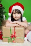 Девушка Санта Стоковые Изображения