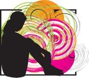 девушка сексуальная иллюстрация вектора