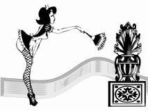 девушка сексуальная Иллюстрация штока