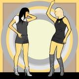 девушка сексуальные 2 танцульки Стоковые Изображения RF