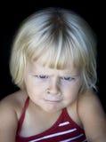 девушка сердитой стороны смешная немногая Стоковая Фотография RF
