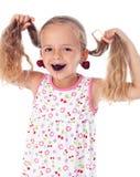 девушка серег вишни Стоковая Фотография