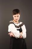 девушка серьезная стоковая фотография rf