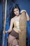Девушка сельской местности стоковая фотография rf