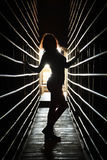 Девушка силуэта Стоковые Изображения RF