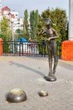 Девушка скульптуры с пузырями мыла Белгород Россия Стоковая Фотография RF