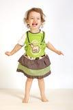 девушка смеется над немногой Стоковые Фото