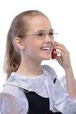 девушка смеясь над меньшим портретом Стоковая Фотография