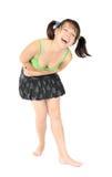 девушка смеясь над славными детенышами стоковое фото rf