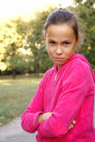 девушка смотря scepticaly предназначен для подростков Стоковое фото RF