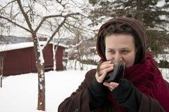 Девушка снаружи стоковая фотография rf