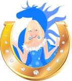 Девушка снега Стоковое Изображение