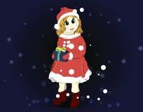 Девушка снега Стоковая Фотография