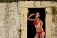 девушка солнечная Стоковое Фото
