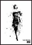 Девушка способа в эскиз-типе Стоковая Фотография RF