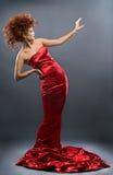 девушка способа платья красотки redheaded Стоковое фото RF