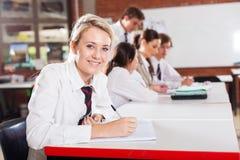 Девушка средней школы Стоковая Фотография RF
