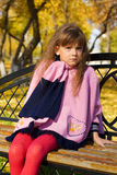 девушка стенда немногая Стоковое фото RF