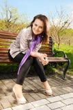 девушка стенда Стоковая Фотография RF