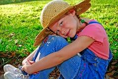 девушка страны милая стоковое изображение rf
