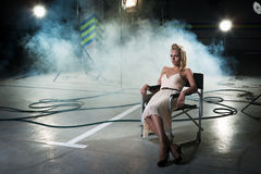 девушка стула Стоковая Фотография RF