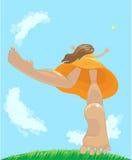 девушка счастливая бесплатная иллюстрация