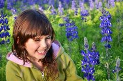 девушка счастливая Стоковое Фото