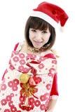 девушка счастливый santa Стоковые Фотографии RF