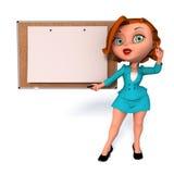 Девушка с белой доской бесплатная иллюстрация
