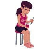 Девушка с вареньем Стоковые Изображения RF