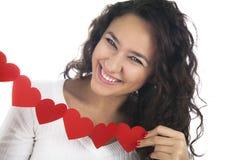 Девушка с венком сердца Стоковое фото RF