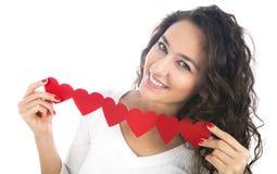 Девушка с венком сердца Стоковое Фото