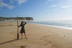 Девушка с веслом Стоковая Фотография RF