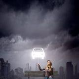 Девушка с воздушным шаром Стоковые Фото