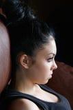 Девушка с высоким coiffure Стоковые Фотографии RF